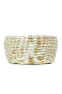 Solid White Sewing Basket