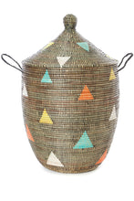 "Load image into Gallery viewer, 30"" Large Teranga Triangles Hamper Basket"