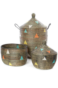 "30"" Large Teranga Triangles Hamper Basket"