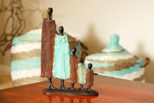 Load image into Gallery viewer, Burkina Bronze Nomad Family of Five Sculpture