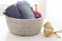Load image into Gallery viewer, Solid White Sewing Basket