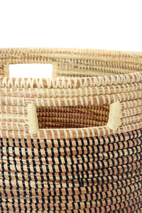 Black, Gold & Cream Sewing Baskets (Set of 3)