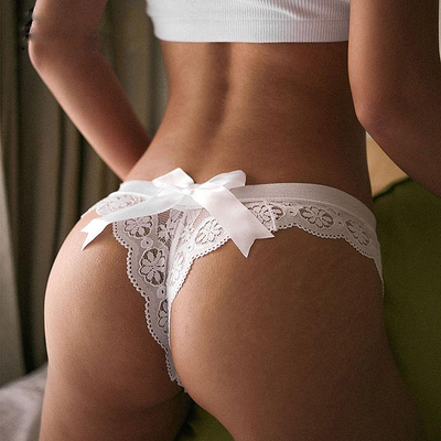 Japanese Style Laced Thong