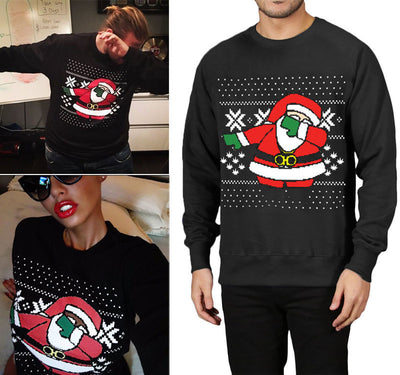 Santa Dab Ugly Christmas Sweater