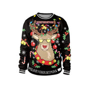 Knitted Rain Deer Ugly Christmas Sweater