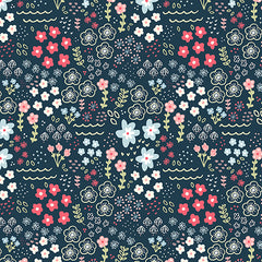 Floral pattern designed by Kathrin Legg available for art licensing