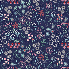 Floral repeat pattern illustrated by Kathrin legg