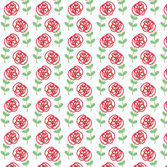 floral, pattern, Kathrin Legg, spoonflower, fabric, design, floral, flowers, roses, red