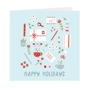 Happy Holidays Set of 5 Cards