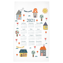 Load image into Gallery viewer, 2021 Home Sweet Home Tea Towel Calendar