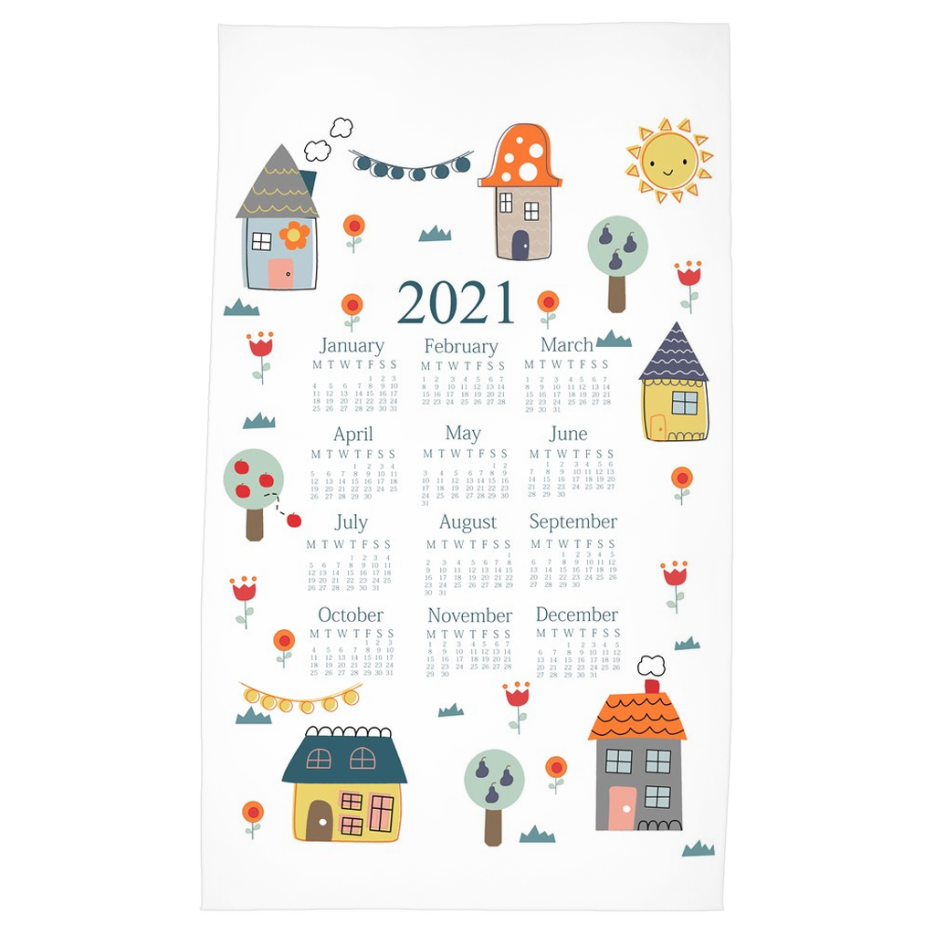 2021 Home Sweet Home Tea Towel Calendar
