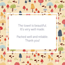 Load image into Gallery viewer, Mushroom Fields Tea Towel