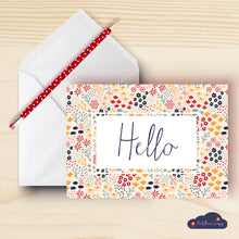 Load image into Gallery viewer, Hello Floral Greeting Card