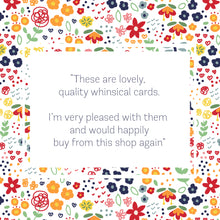 Load image into Gallery viewer, 5 Pack of Floral 'Hello' Greeting Cards