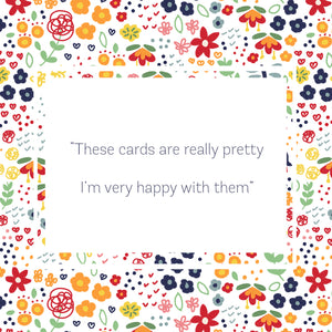 10 Pack Winter Fashion Greeting Cards