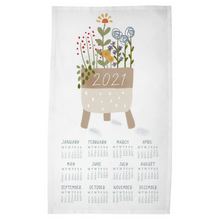 Load image into Gallery viewer, 2021 Houseplant Tea Towel Calendar