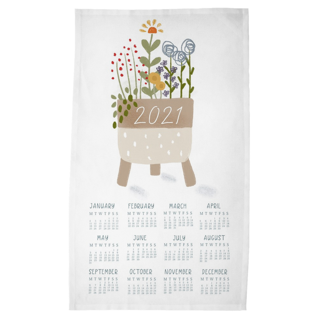2021 Houseplant Tea Towel Calendar