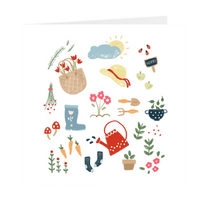Garden illustration Blank Greeting Card