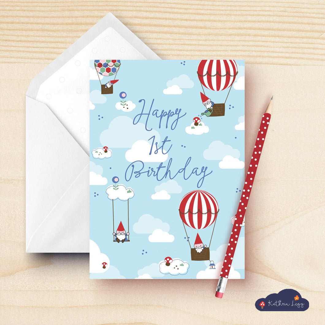 Happy First Birthday Greeting Card