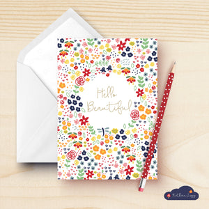 Hello Floral Greeting Card