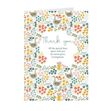 Load image into Gallery viewer, Thank you floral card set