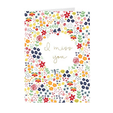 Load image into Gallery viewer, Miss You Floral Greeting Card