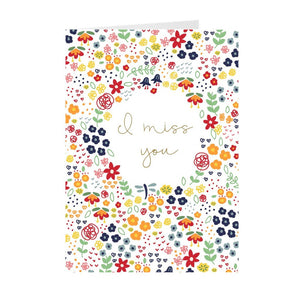 Miss You Floral Greeting Card