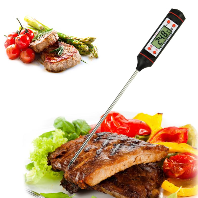 Digital instant reading meat thermometer