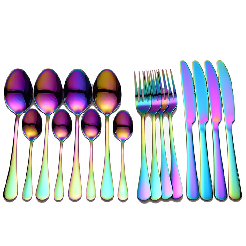 4 sets / 16pcs stainless steel tableware