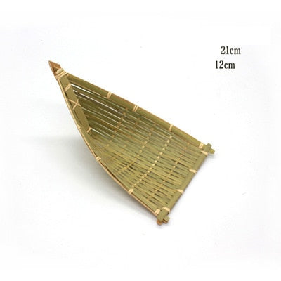 Chinese folk handmade bamboo basket can store fruit bread food