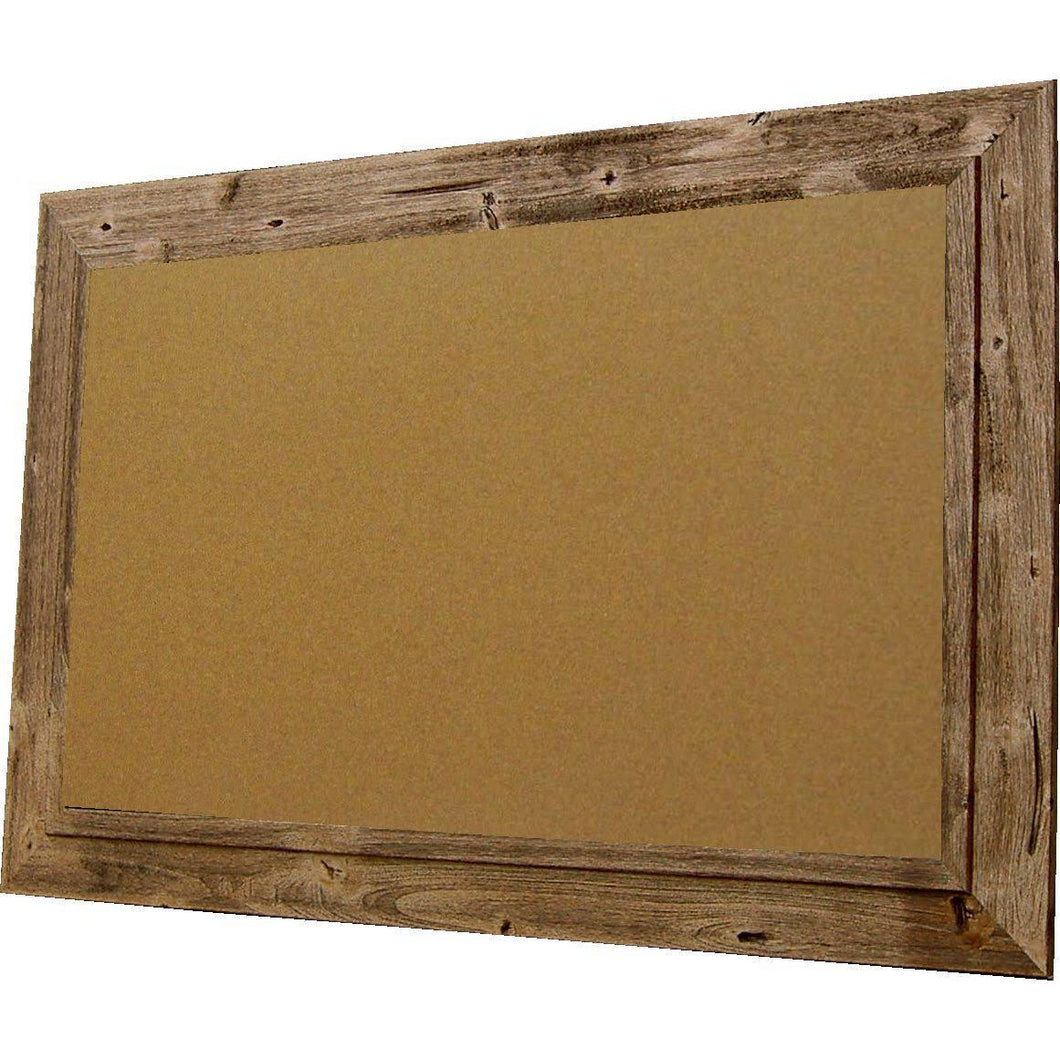 Cork Board with Wide Picture Frame - Burnt Brown Barnwood 83044-203