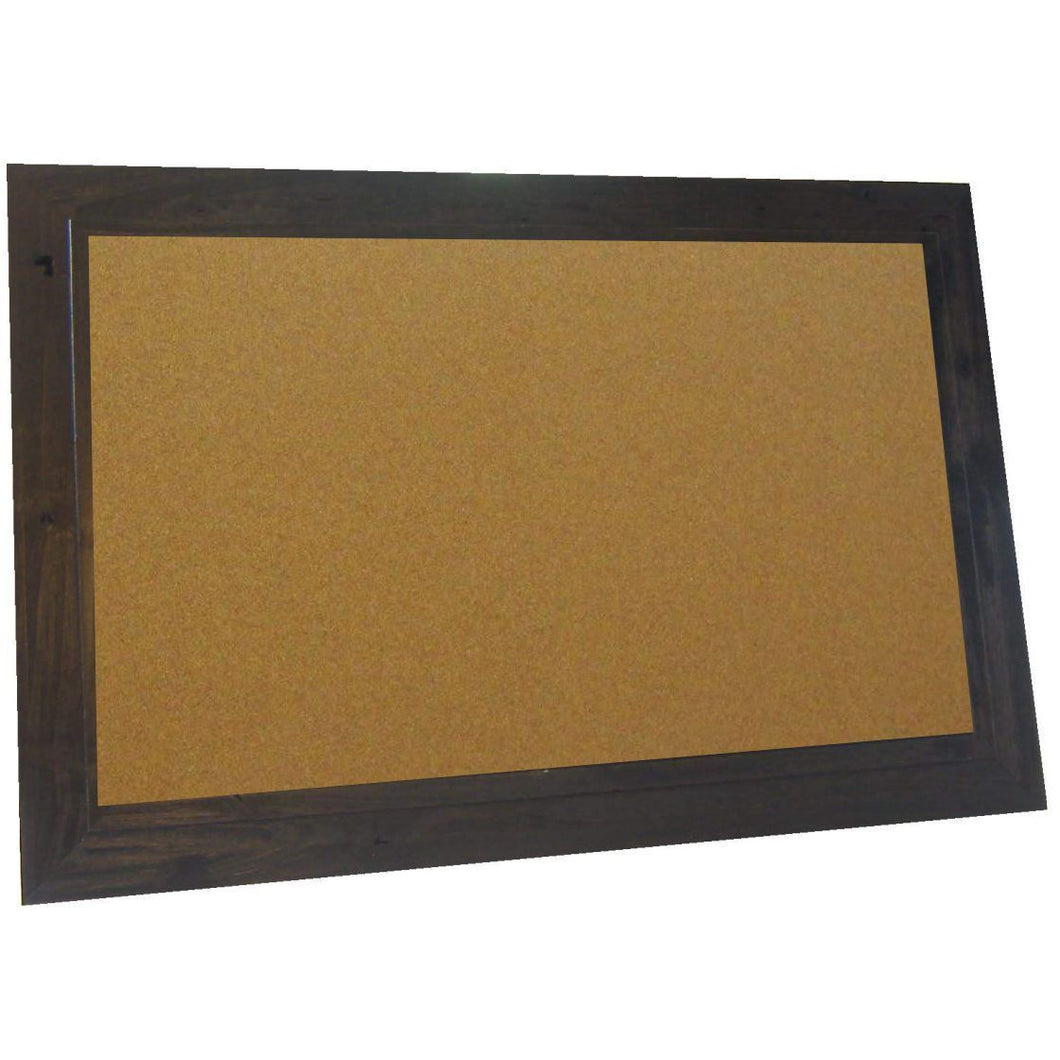 Cork Board with Wide Picture Frame - Coffee Bean Barnwood 83044-204