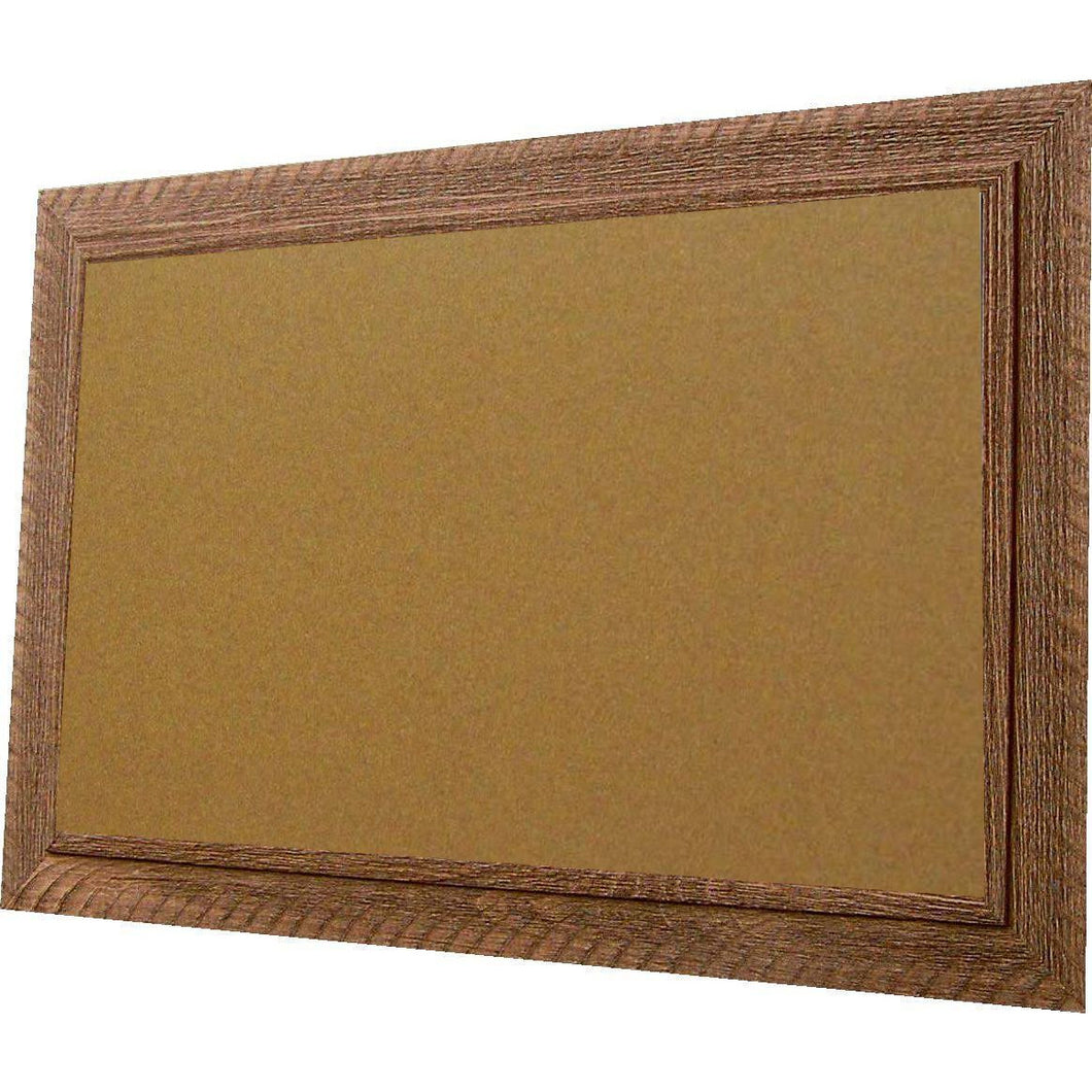 Cork Board with Wide Picture Frame - Brown Barnwood 83044-301