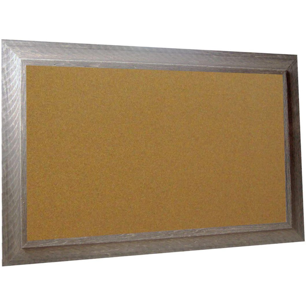 Cork Board with Wide Picture Frame - Grey Barnwood 83044-304