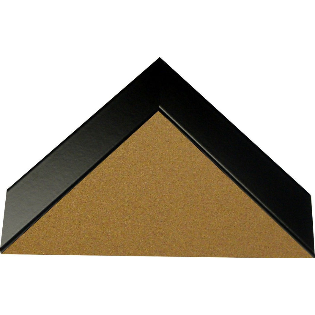Cork Board with Narrow Picture Frame - Black Satin BW26273