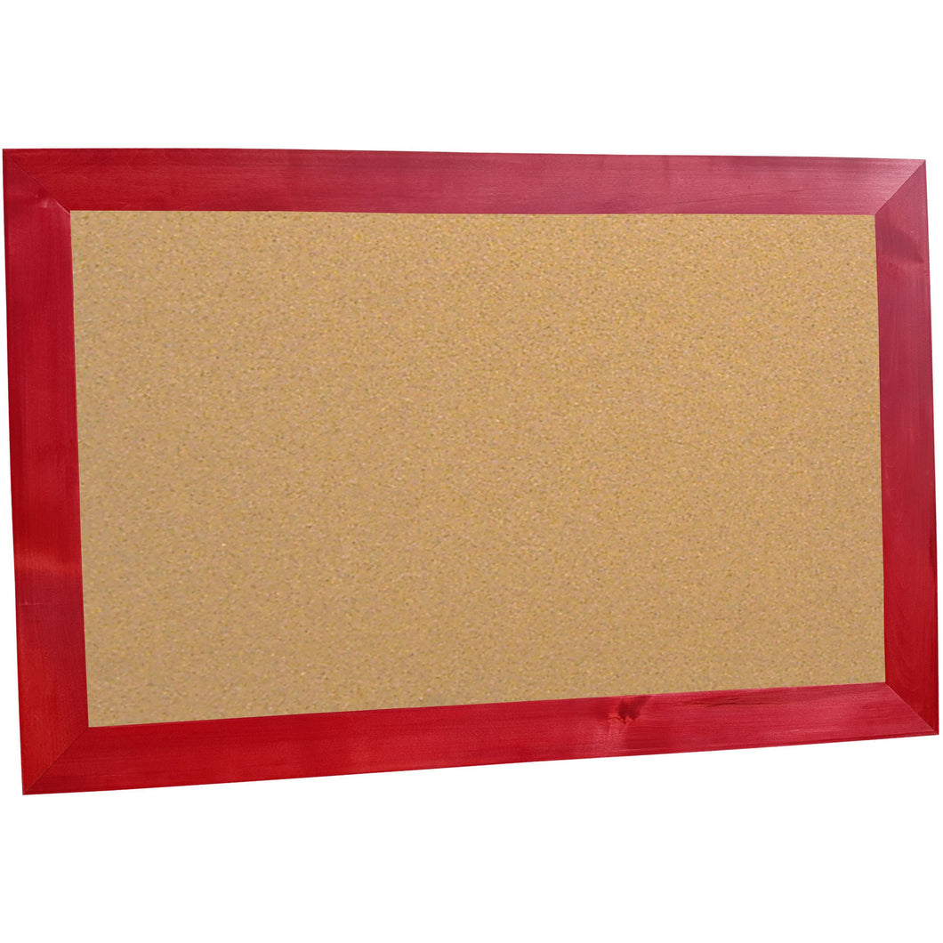 Classic Schoolhouse Cork Board - Barn Red Frame
