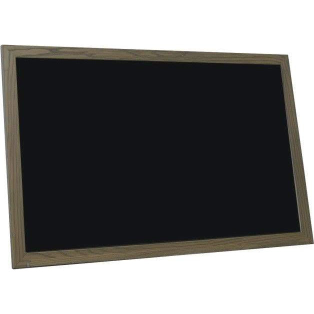 Economy Wood Framed Black Chalkboard - Aged Brown Finish