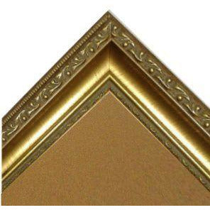 Cork Board with Medium Picture Frame - Ornate Gold G2807