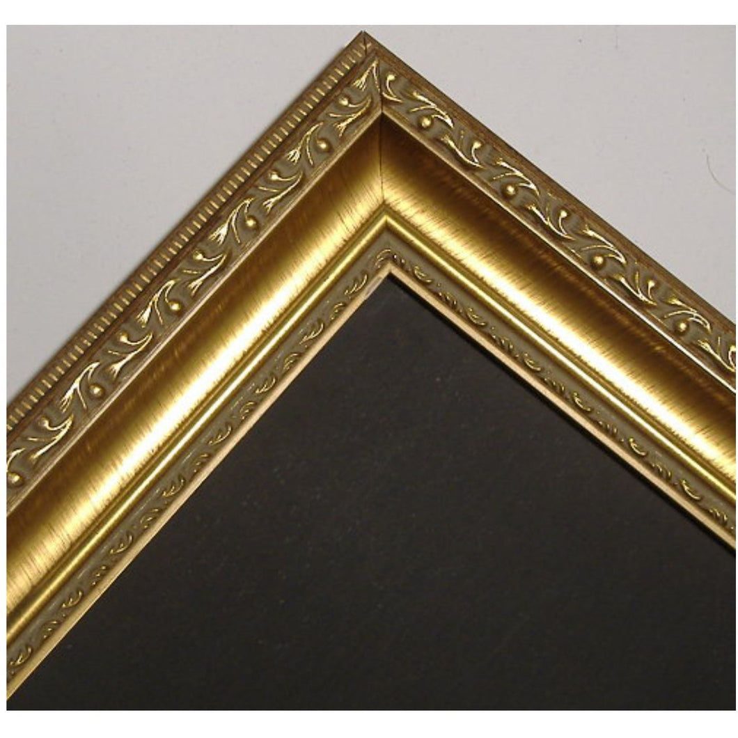 Chalkboard with Medium Picture Frame - Ornate Gold G2807