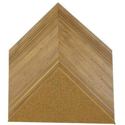 Cork Board with Wide Picture Frame - Aged Natural Pine G8098
