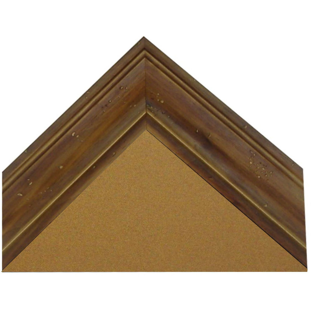 Cork Board with Medium Picture Frame - Aged Coffee Pine G8100