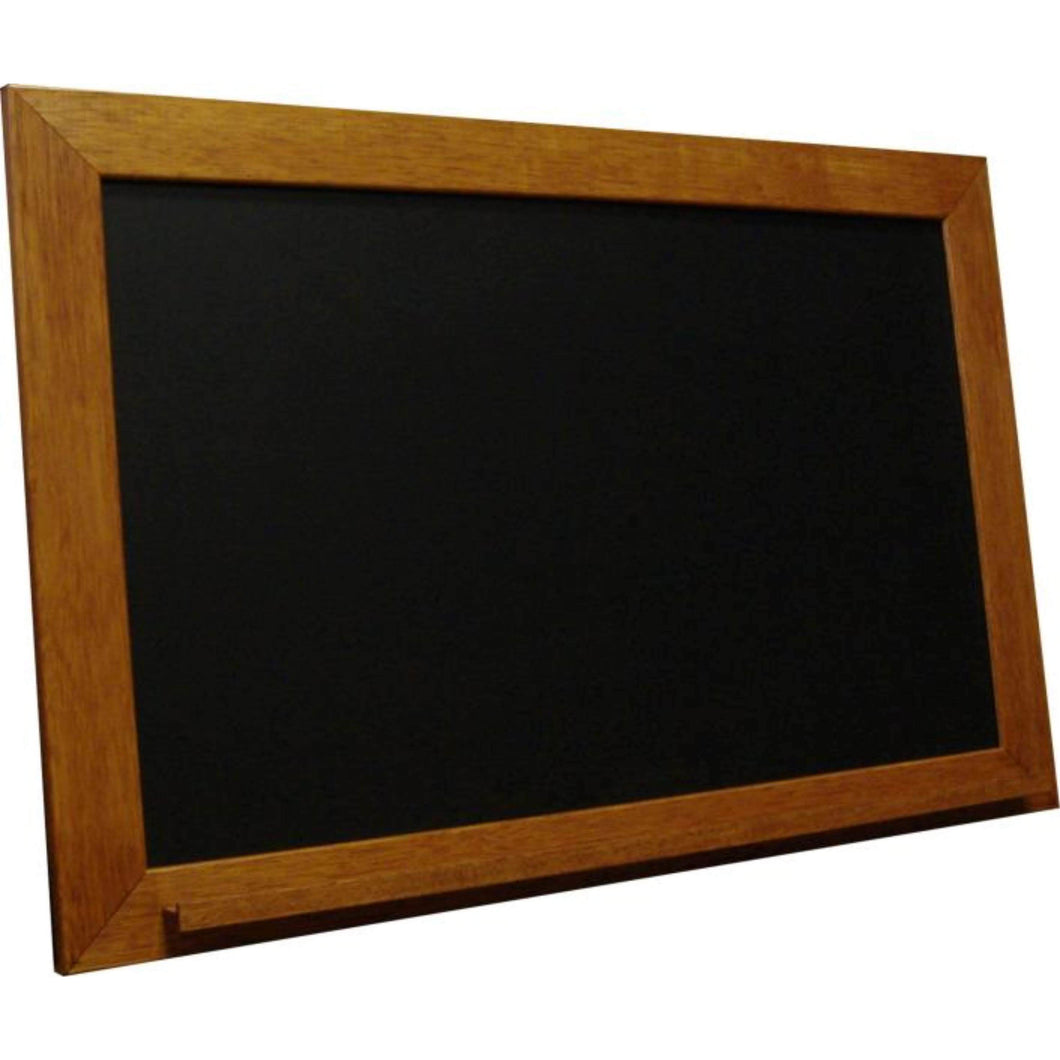 Classic Schoolhouse Black Chalkboard - Vintage Honey Frame