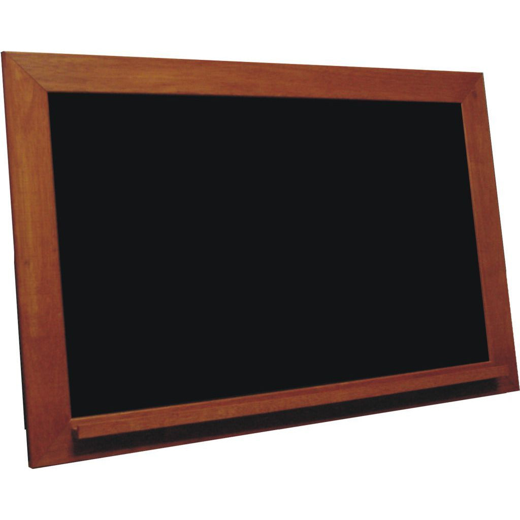Classic Schoolhouse Black Chalkboard - Vintage Cherry Frame