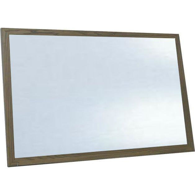 Economy Wood Framed White Dry Erase Board - Aged Brown Finish
