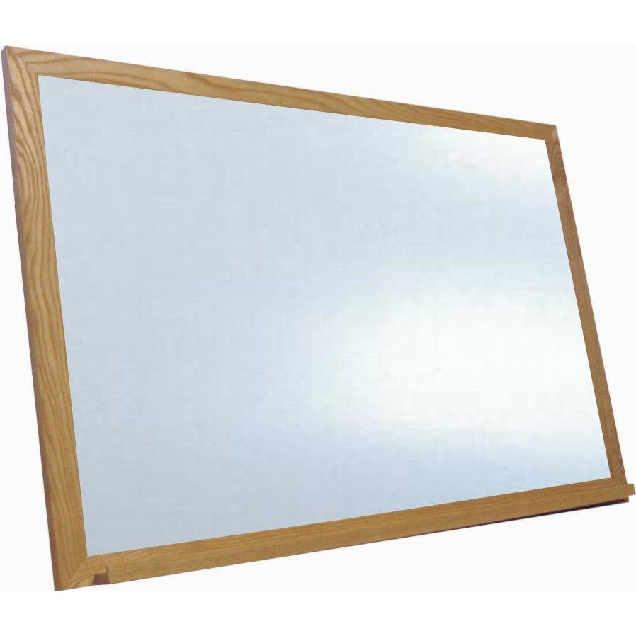 Economy Wood Framed White Dry Erase Board - Oak Golden Finish