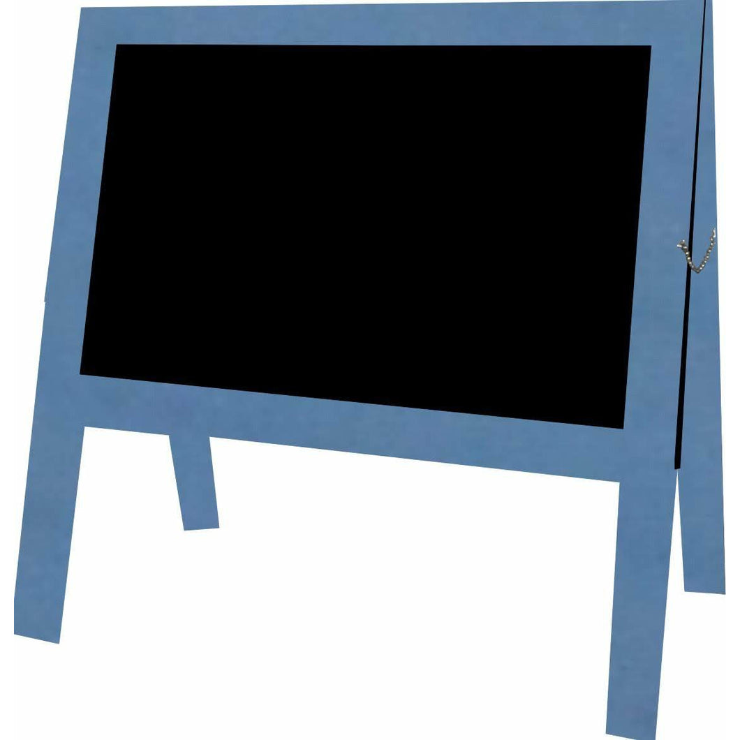 Outdoor Little Peddler Chalkboard Easel - Blue - With Legs - Wide Orientation