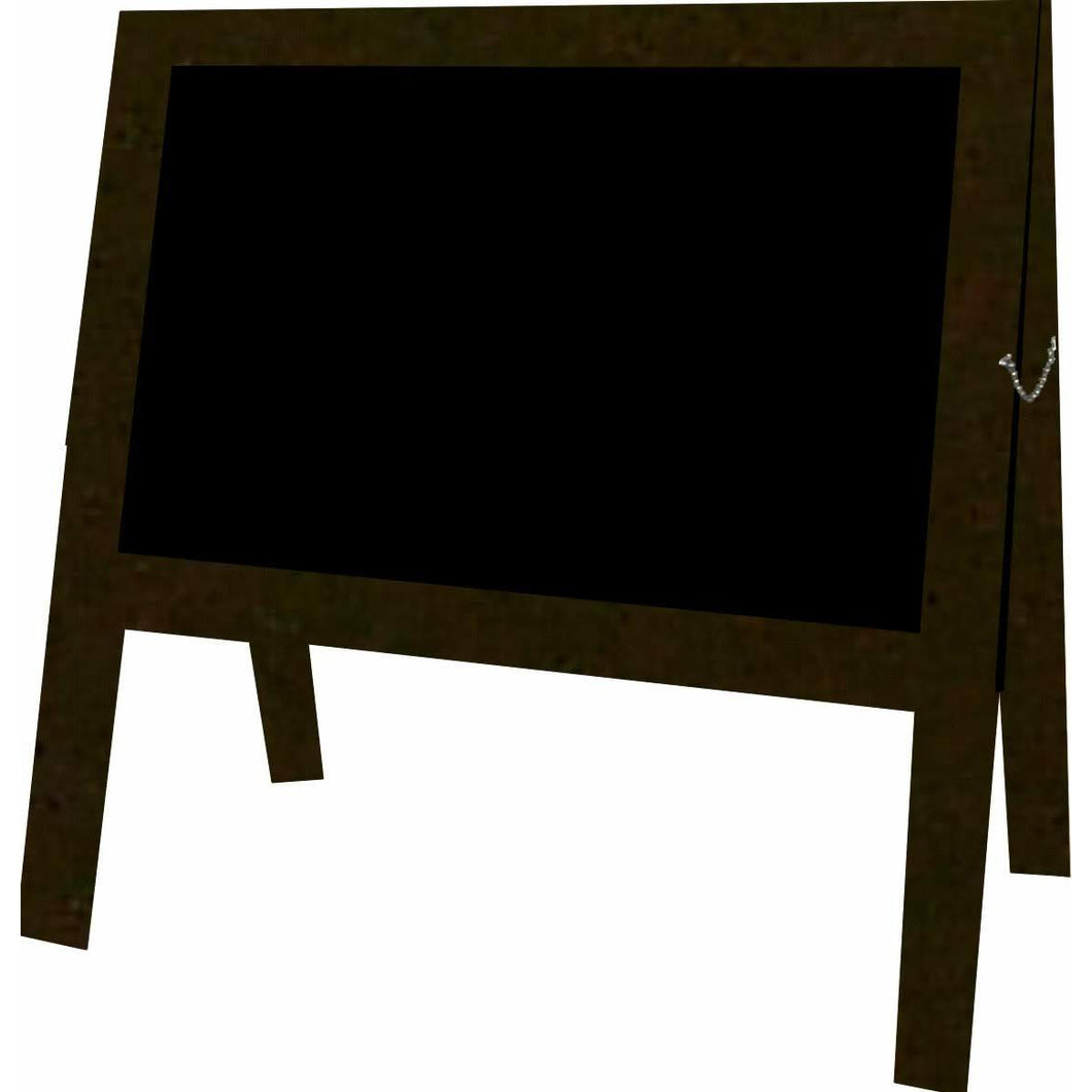Outdoor Little Peddler Chalkboard Easel - Bronze - With Legs - Wide Orientation