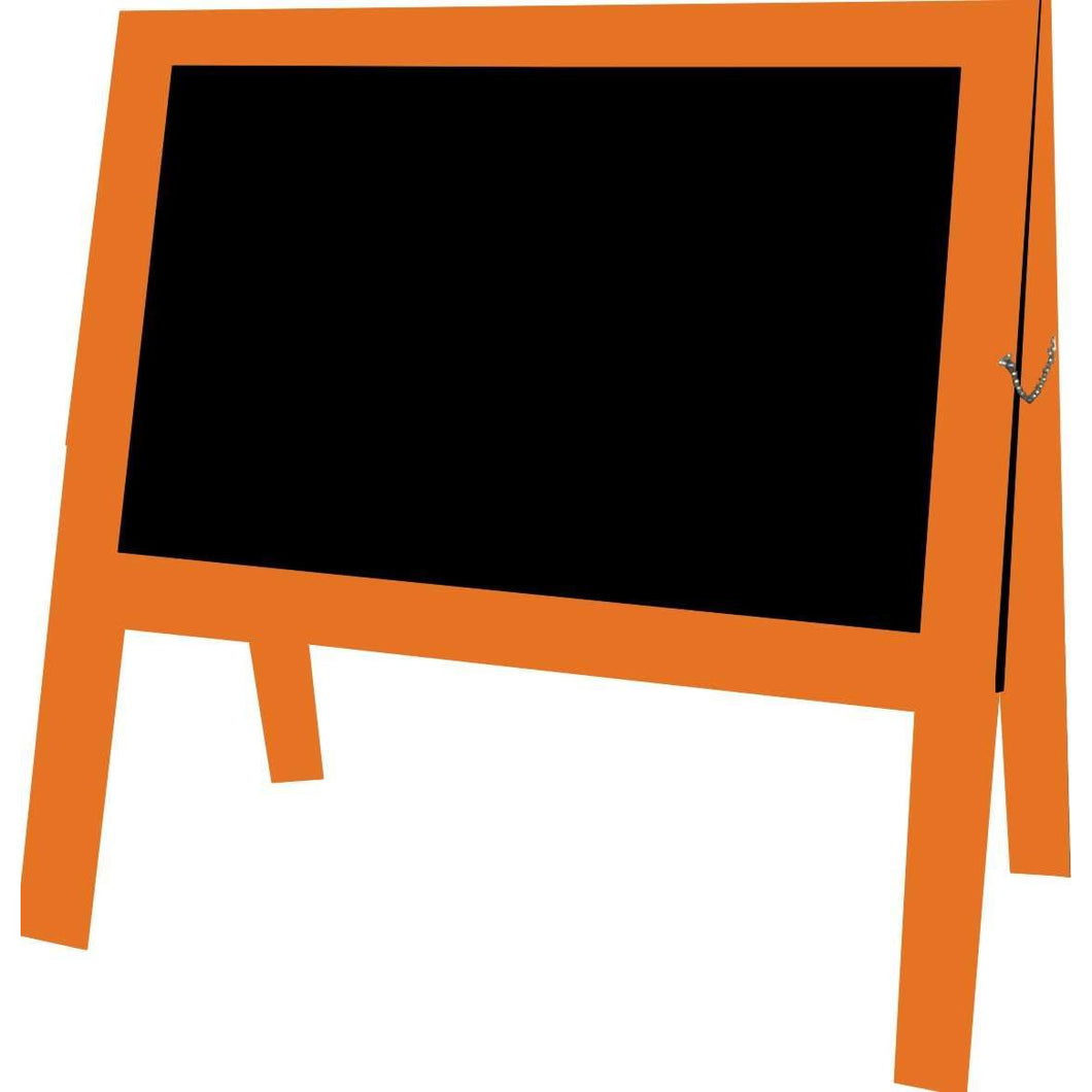 Outdoor Little Peddler Chalkboard Easel - Cantaloupe - With Legs - Wide Orientation