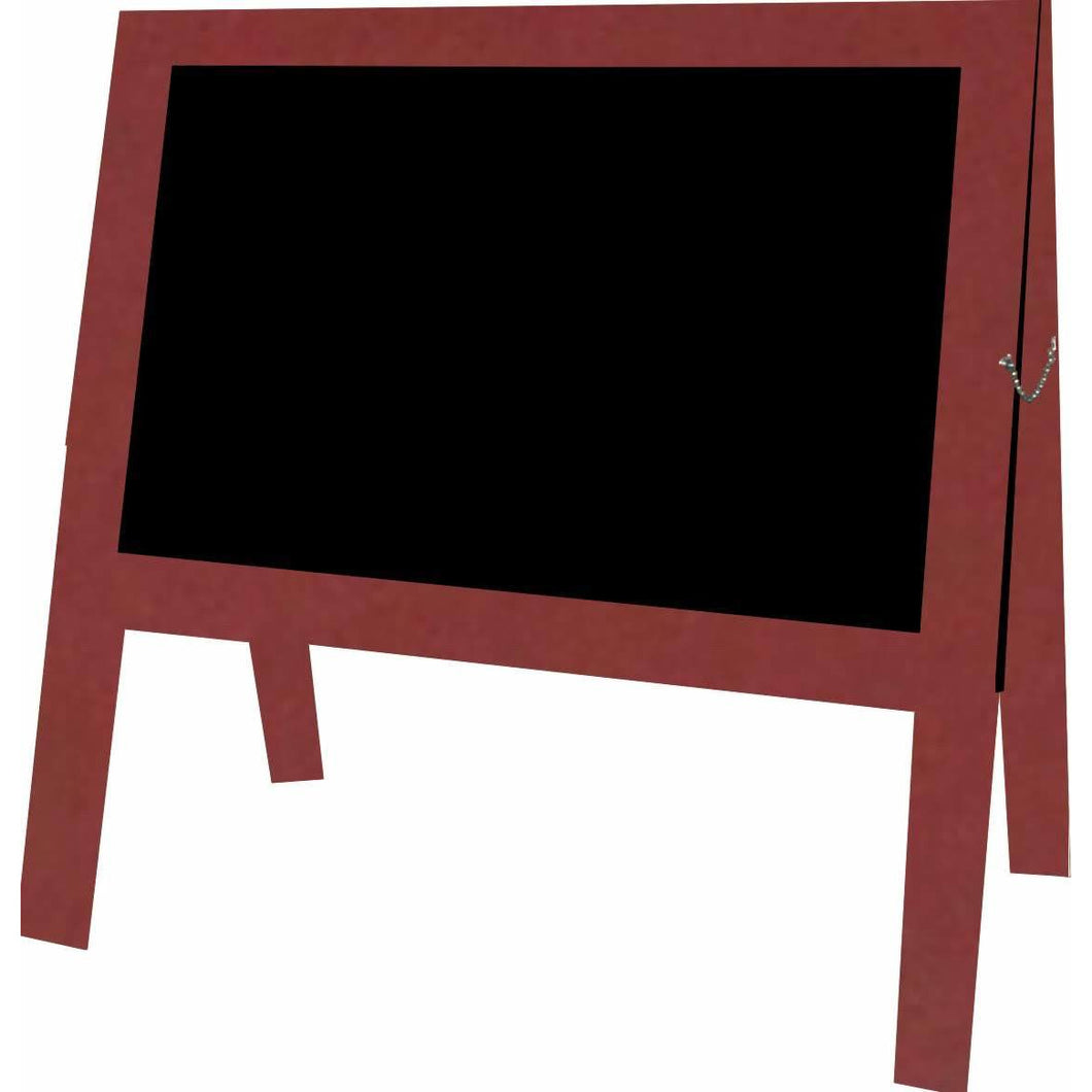 Outdoor Little Peddler Chalkboard Easel - Red - With Legs - Wide Orientation