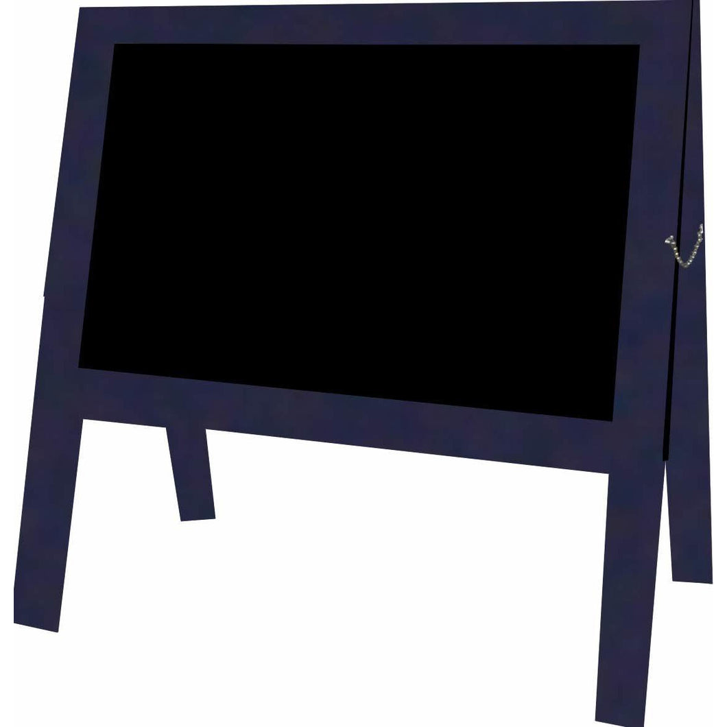 Outdoor Little Peddler Chalkboard Easel - Sapphire Blue - With Legs - Wide Orientation
